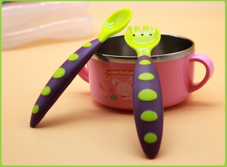 ชุดช้อนส้อมพกพา สำหรับเด็กเล็ก พร้อมกล่องเก็บ NanaBaby