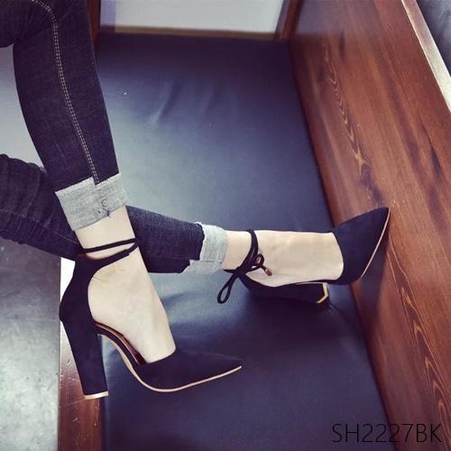 Pre รองเท้าคัทชู ส้นสูง แฟชั่น ราคาถูก มีไซด์ 34-43