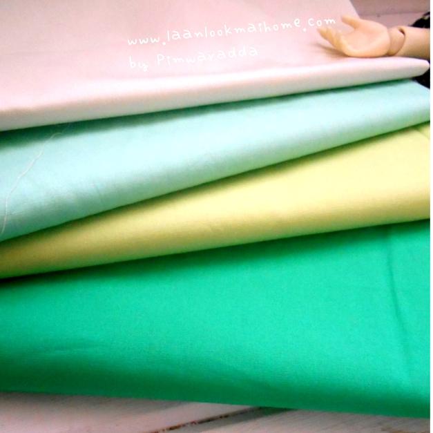 ผ้าพื้นcotton 4ชิ้น หาในไทย ขนาด 27x50cm สั่งหลายจำนวนผ้าต่อกันค่ะไม่ตัดแยกค่ะ