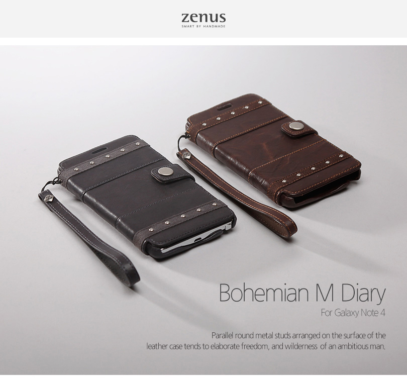 Zenus : Bohemian M Diary Genuine Leather Cover Case For Galaxy Note 4
