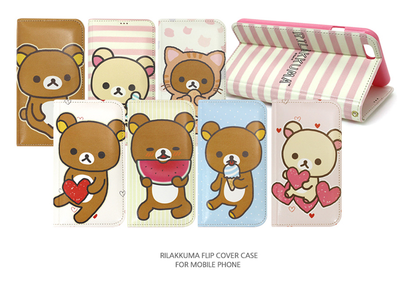 Rilakkuma New Flip Leather Card Wallet Diary Cover Case For Galaxy Note 7