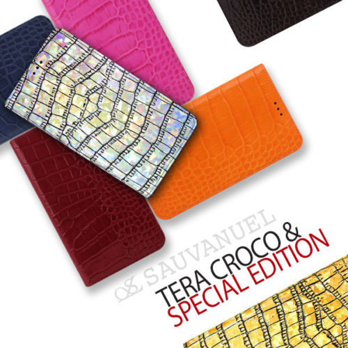 Genuine Leather Flip Wallet Case Crocodile Embossed For Galaxy Note 5