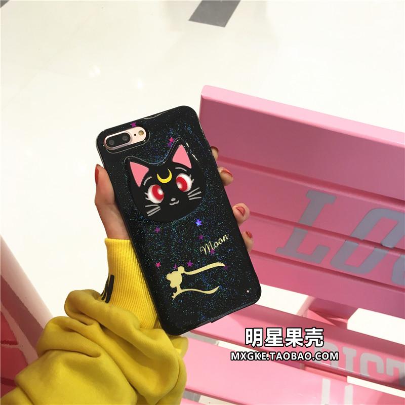 (513-073)เคสมือถือไอโฟน Case iPhone 7 Plus เคสนิ่มลายแมว Luna เซเลอร์มูน