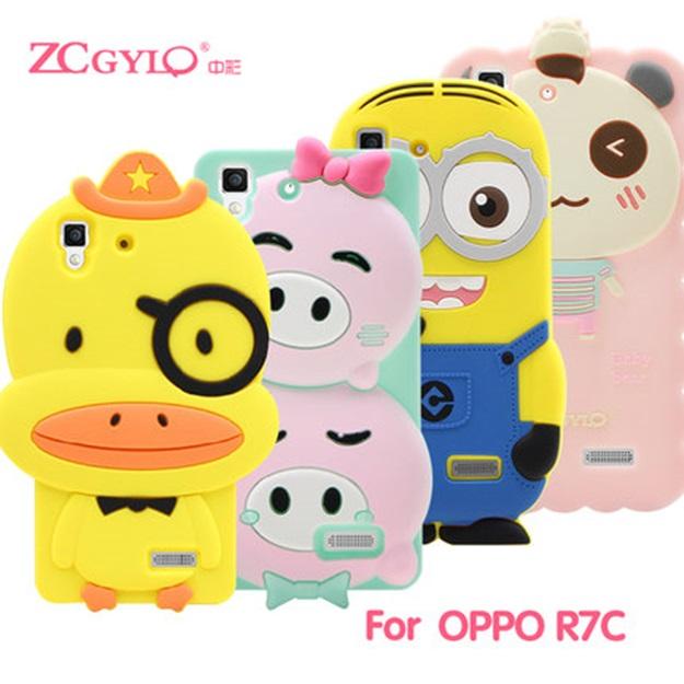 (412-036)เคสมือถือ Case OPPO R7/R7 Lite เคสนิ่มการ์ตูน 3D น่ารักๆ