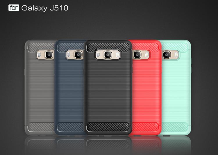 (025-1179)เคสมือถือซัมซุง Case Samsung Galaxy J5 2016 เคสนิ่ม tpu กันกระแทกแฟชั่นพื้นผิวลายโลหะ