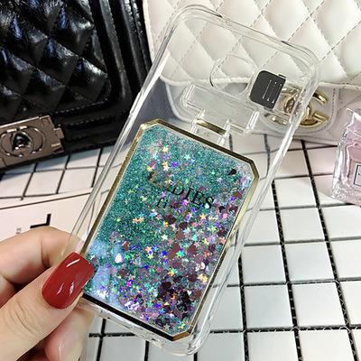 (พร้อมส่ง05)เคสมือถือซัมซุง Case Samsung S6 edge เคสนิ่มใสทรายดูดแฟชั่นสวยๆ