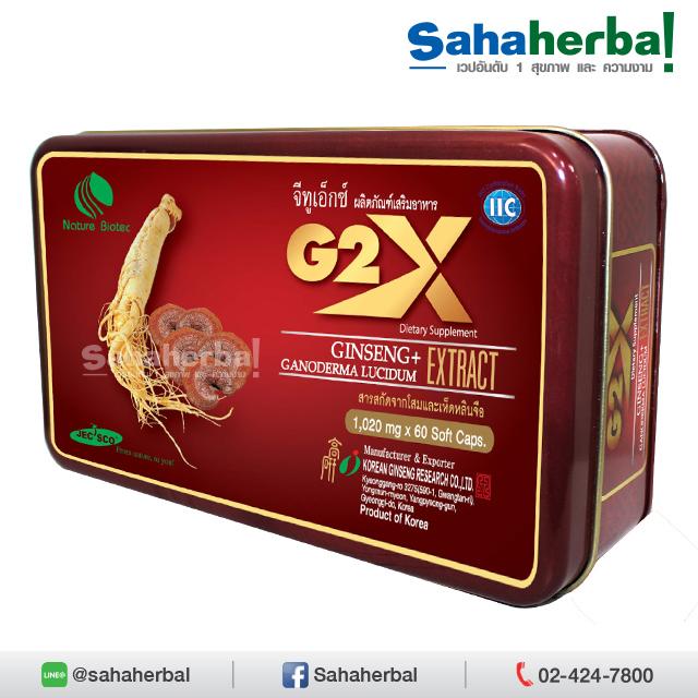 G2X จีทูเอ็กซ์ โสมผสมเห็ดหลินจือ by Linhzhimin SALE 60-80% ฟรีของแถมทุกรายการ
