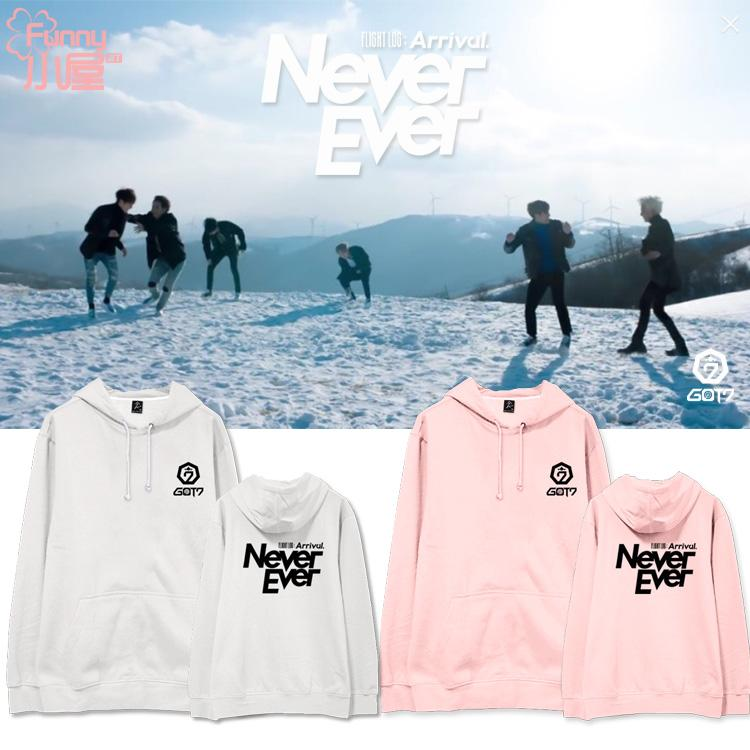 Hoodie GOT7 Arrival Never Ever -ระบุสี/ไซต์-