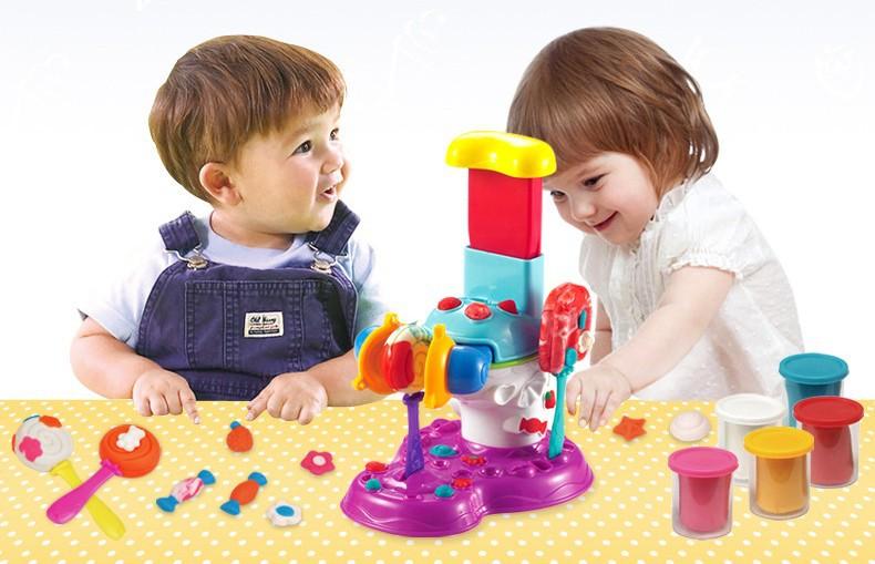 ชุดแป้งโดว์ - Lovely Pop Maker (เครื่องทำไอศครีม+อมยิ้ม)