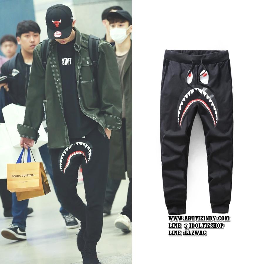 กางเกงขายาว BAPE - SHARK SLIM PANTS Sty.Chanyeol -ระบุสี/ไซต์-