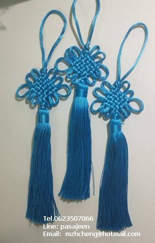 เชือกถักจีน สีฟ้า
