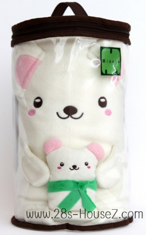 ผ้าห่มม้วน หมี (Po Bobo) ยี่ห้อ Minojo ## พร้อมส่งค่ะ ##