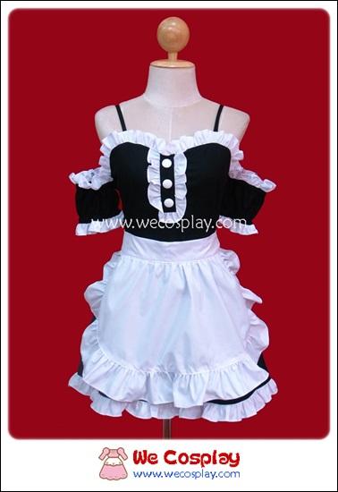 ชุดเมดแบล็คเซ็กซี่ Black Sexy Maid Costume สีดำ