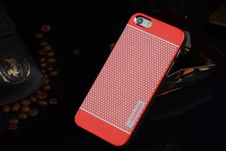 เคสไอโฟน 6 Plus / 6s Plus เคสไอโฟน Hard Case Motomo กรอบอลูมิเนียมเกาหลีลายจุด สีแดง