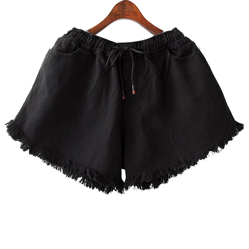 *Pre Order*แฟชั่นผู้หญิงไซส์ใหญ่ กางเกงยีนส์ขาสั้นเอวยืด size XL - 2XL