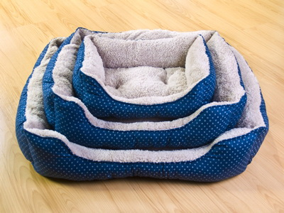ที่นอนสุนัขและแมวสีน้ำเงิน ไซส์ M