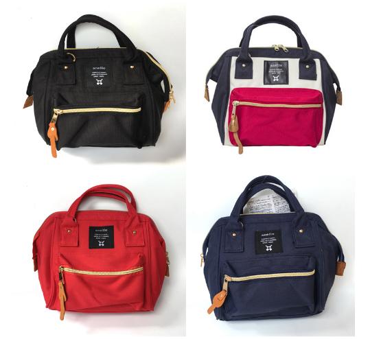 กระเป๋าเป้ Anello รุ่น Shoulder bag Mini สีดำล้วน