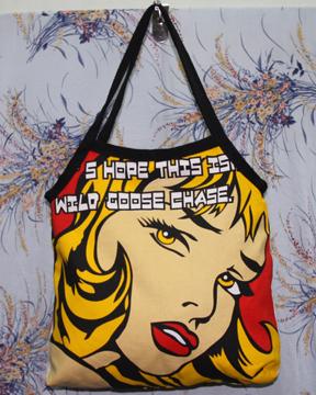 กระเป๋าผ้าcanvas สกรีนลาย popart 1
