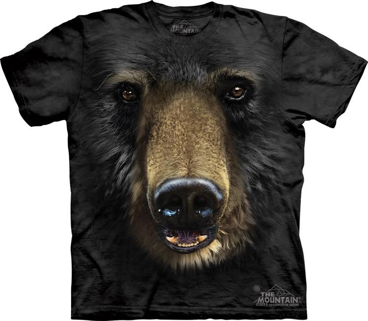 Pre.เสื้อยืดพิมพ์ลาย3D The Mountain T-shirt : Black Bear Face