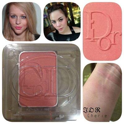 ** พร้อมส่ง **Christian Dior Diorblush Vibrant Colour Powder Blush # 756 Rose Cherie (Refill Nobox) 7g เทสเตอร์ ขนาดเท่าไซด์จริง