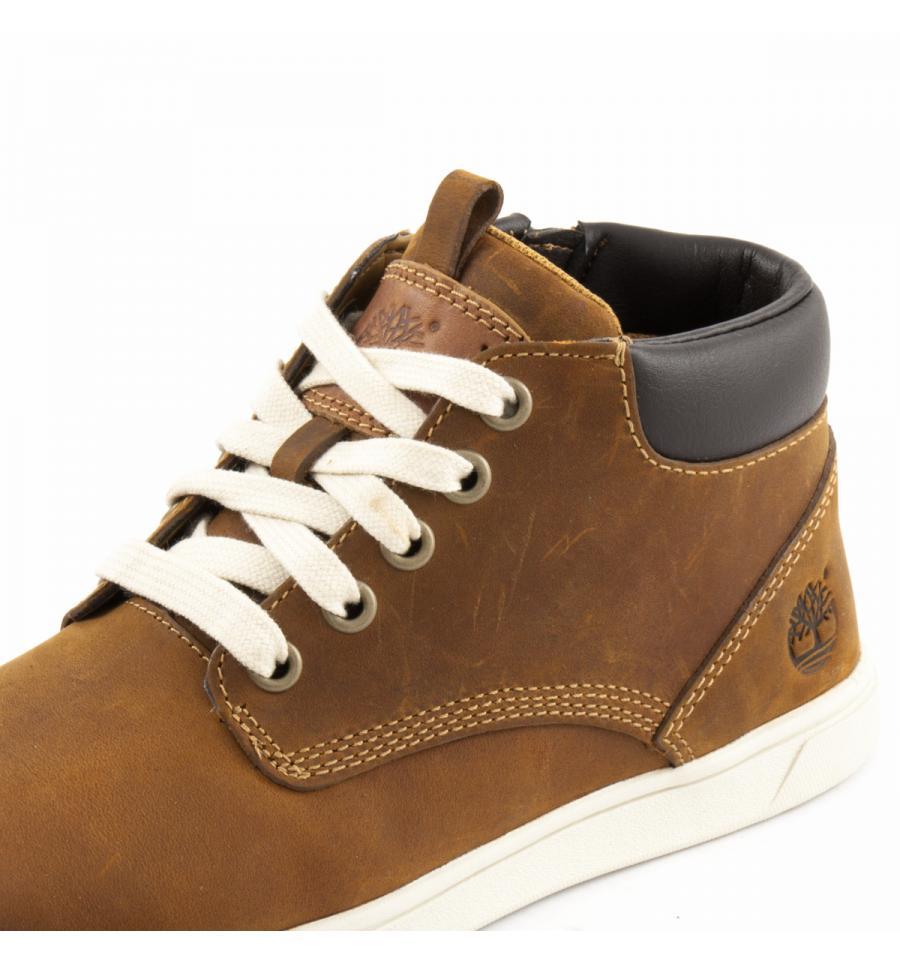 ??????? JUNIOR GROVETON LEATHER CHUKKA 6092B Side Zip Shoe Size 39 ??????????