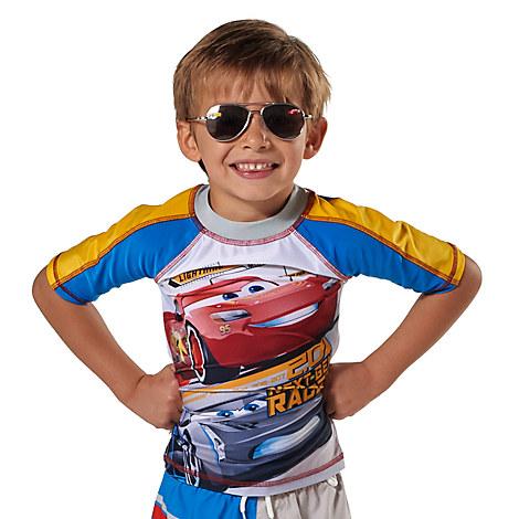 Lightning McQueen Rash Guard for Boys from Disney USA ของแท้100% นำเข้า จากอเมริกา