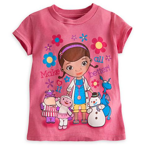 zDoc McStuffins and Friends Disney Tee for Girls ของแท้ นำเข้าจากอเมริกา (Size: 5/6)