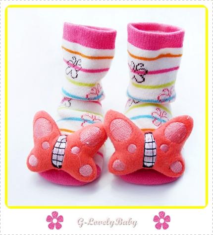 ถุงเท้าเด็ก ถุงเท้าเด็กเล็ก ถุงเท้าเด็กวัยหัดเดิน ถุงเท้าเนื้อนุ่มๆพื้นกันลื่น ถุงเท้าหัวการ์ตูน 3 มิติ มีเสียงกระดิ่งเวลาเดิน อายุ 0-2 ปี