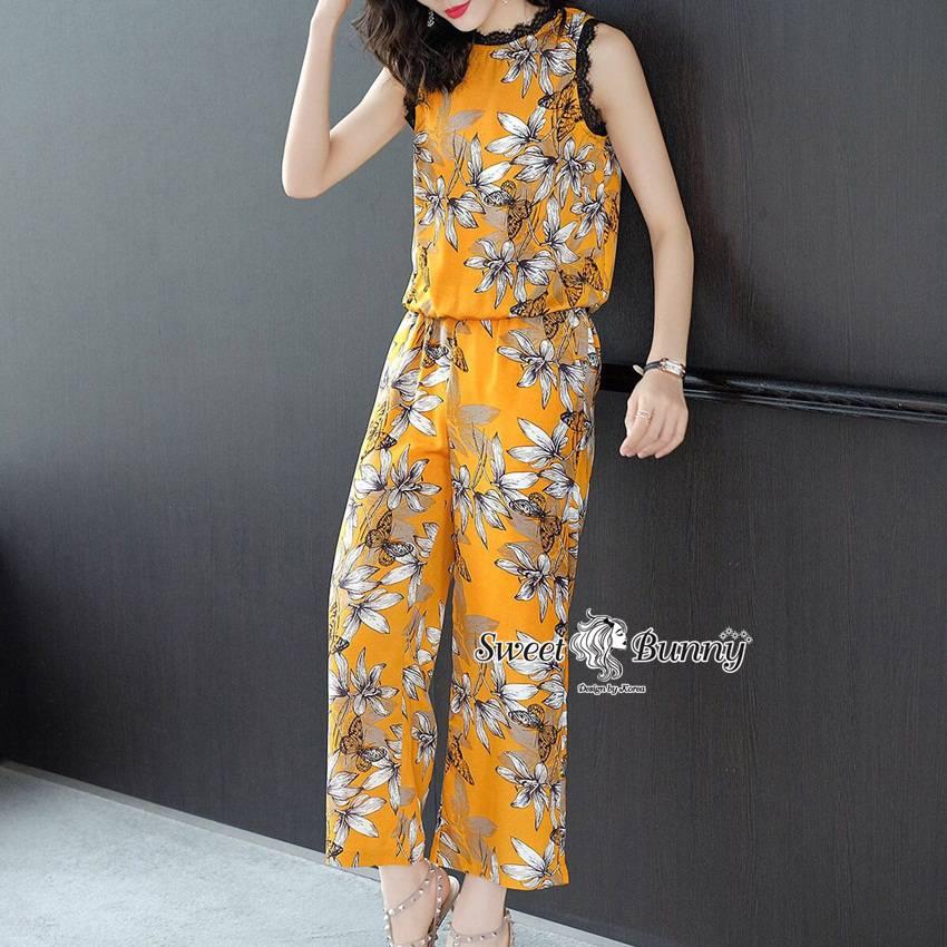ชุดเซทแฟชั่น ชุดเซ็ทเสื้อ+กางเกงงานเกาหลี ผ้าเนื้อดีนุ่มใส่สบาย