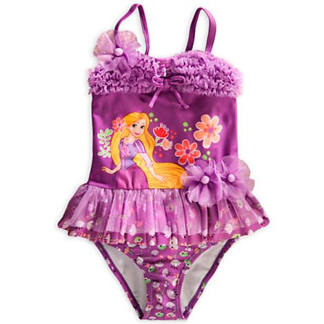 z Rapunzel Deluxe Swimsuit for Girls Size4