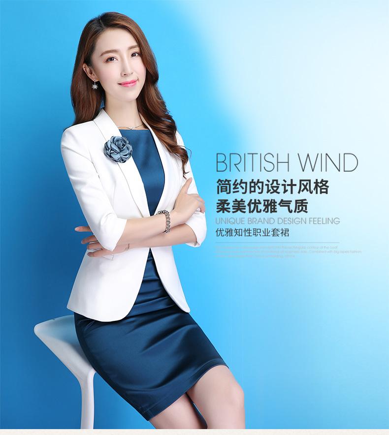 พรีออเดอร์ เสื้อสูทผู้หญิง แฟชั่นชุดทำงาน สูทผู้หญิงวัยทำงาน ผ้าโพลีอีสเตอร์ ติดโบว์กุหลาบหรูหรา สไตล์เกาหลี