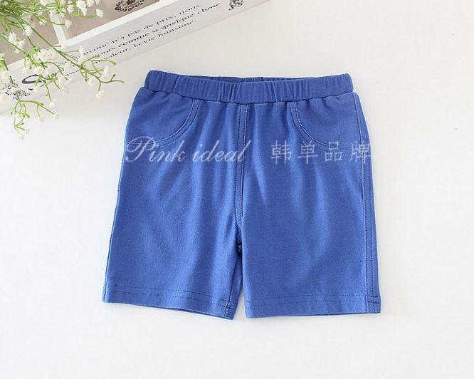 กางเกงเลกกิ้งขาสั้นเด็กผู้หญิง สีน้ำเงิน PinkIdeal