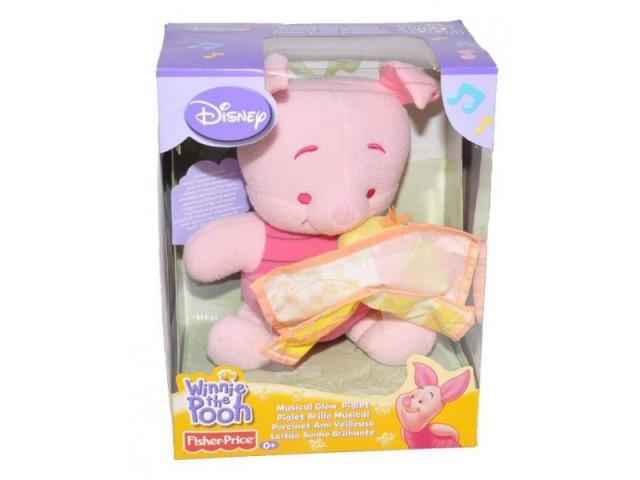 Z Fisher Price พิกเล็ท (Piglet) ตุ๊กตา กล่อมนอน Disney มีเสียงเพลง มีไฟ ช่วยกล่อมลูกน้อยให้นอนง่าย