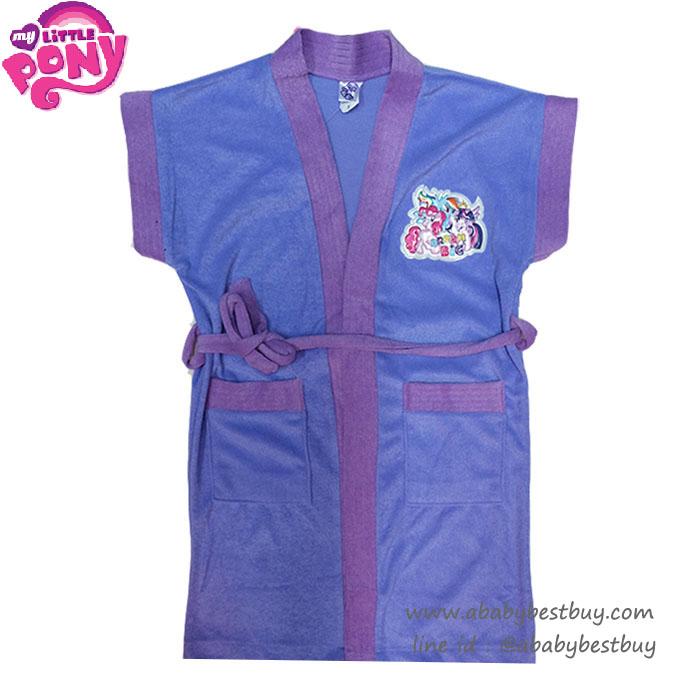 อ ( For Kids ) - My Little Pony ชุดคลุมว่ายน้ำ เด็กผู้หญิง สีม่วง ลายม้าโพนี่ สุดน่ารัก ผ้าดี ลิขสิทธิ์ฮาสโบแท้