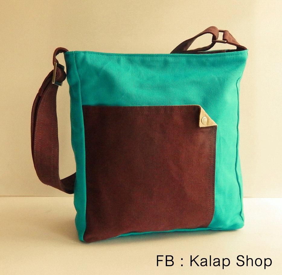 [พร้อมส่ง] กระเป๋าสะพายข้างรุ่น Bright Teal