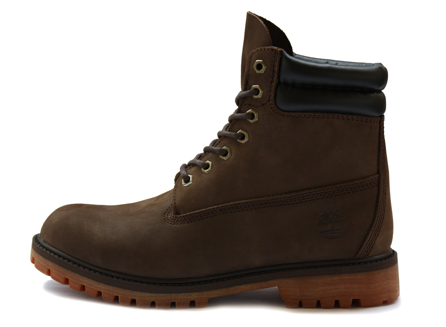 รองเท้าหนัง Men's Timberland 6-inch Waterproof Double Collar Boots Black Brown Size 39-45 พร้อมกล่อง