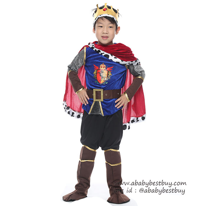 #BF0003 ชุดแฟนซี เจ้าชาย ชุดคอสเพลย์ พระราชาเสมือนจริง (สำหรับเด็กอายุ 3-12 ปี)