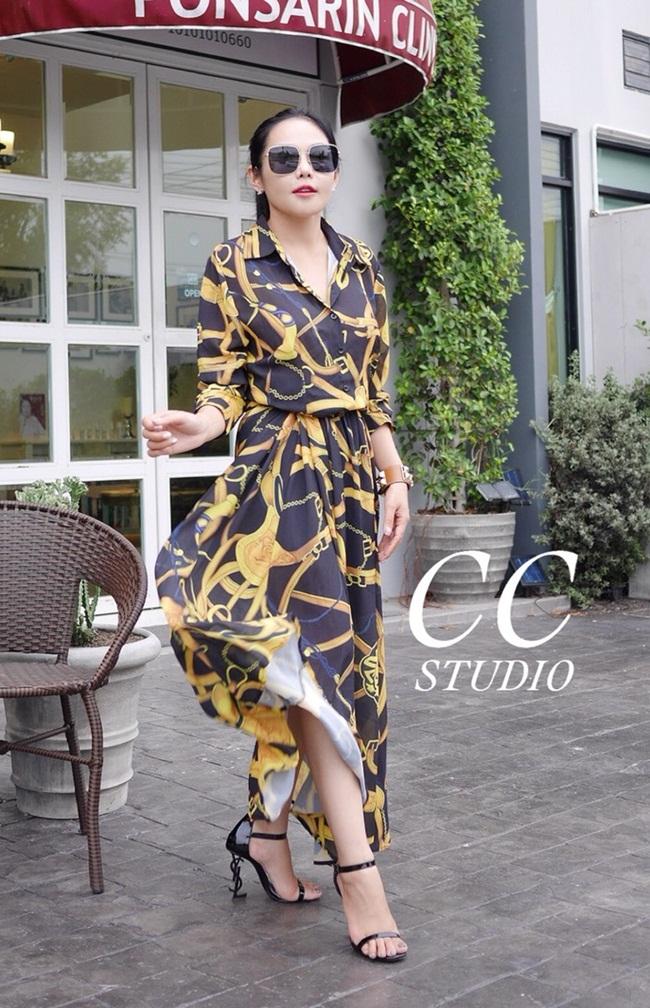 เดรสแฟชั่น maxi dress ทรงเชิ้ต พิมพ์ลายสวยมากค่ะ