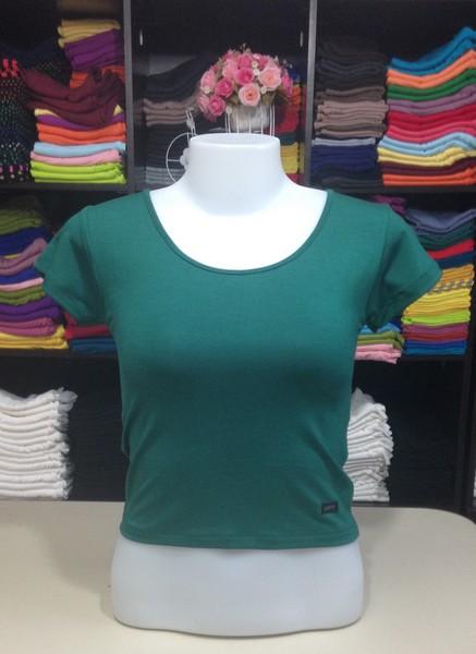 เสื้อยืดครึ่งตัว สีเขียวบไม้
