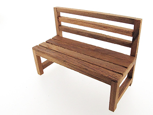ม้าไม้ยาว Long Wooden Chair