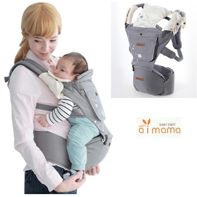 i-mama เป้อุ้มเด็ก Hip Seat Carrier (สีเทา)
