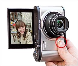 ฟังก์ชั่น shutter หน้าให้ถ่ายselfie ได้ง่ายดายมากชึ้น casio ex zr1600