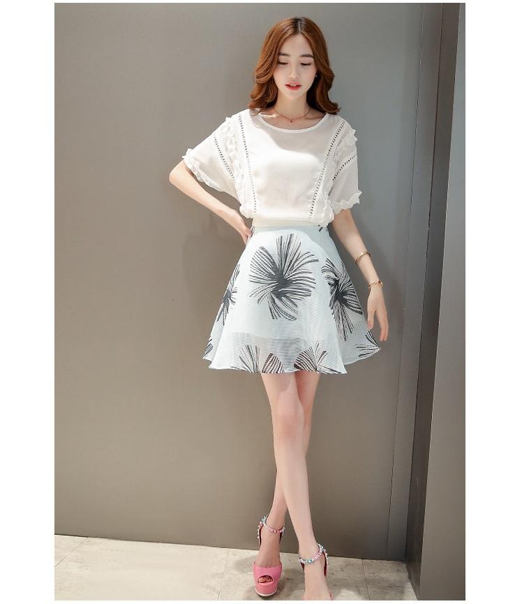 แฟชั่นเกาหลี set เสื้อและกระโปรง สวยสุดๆ
