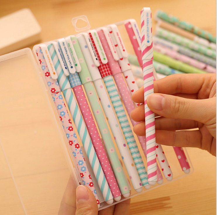 ปากกาเจล 10 สี (ราคา/เซ็ต)