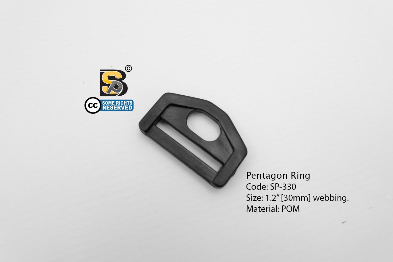 """ห้าเหลี่ยม 1.2"""" รู (แข็ง)/ Pentagon Ring 1.2"""""""