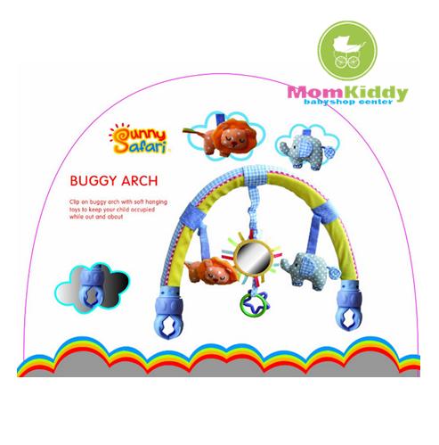 โมบายโค้งหนีบรถเข็น ติดคาร์ซีท สีฟ้า Sunny Safari Buggy Arch