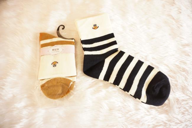 ถุงเท้าพับข้อน่ารักมี2สี [ขนาดเท้า35-38]