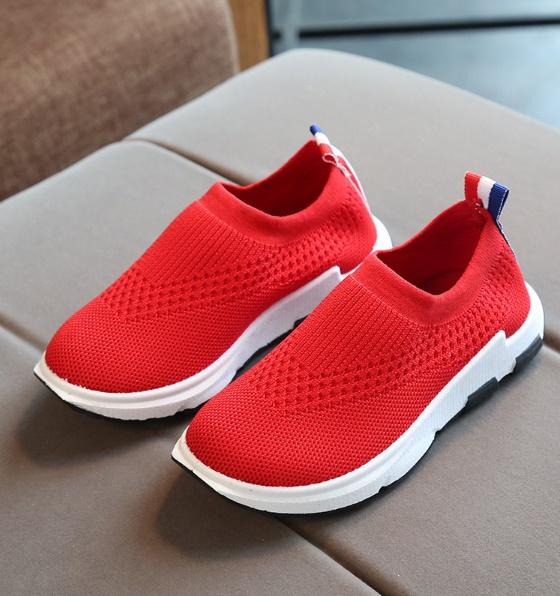 รองเท้า meshknitt สีแดง