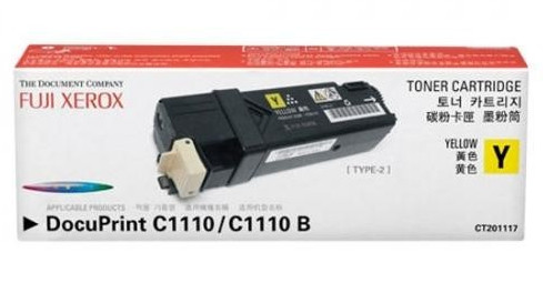 Xerox CT201117 ตลับหมึกโทนเนอร์ สีเหลือง Yellow Original Toner Cartridge