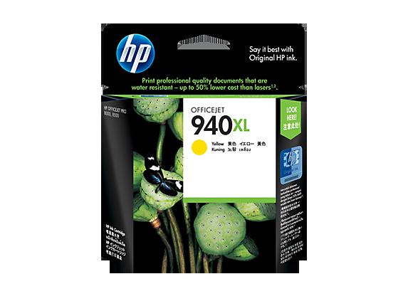 HP 940XL ตลับหมึกอิงค์เจ็ท สีเหลือง High Yield Yellow Original Ink Cartridge (C4909AA)